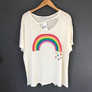 Wildfox Oversize Rainbow Graphic Tee 🌈